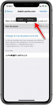 Pratique iOS 12: des mots de passe plus sûrs, détection de doublons et partage de mots de passe 5