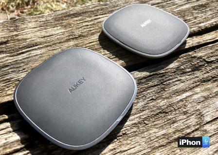 En promo flash courte / Test du chargeur sans-fil de Aukey: la recharge iPhone discrète et élégante 4