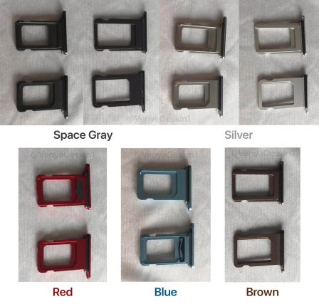 Photo: des tiroirs  SIM en 5 couleurs et en double pour les nouveaux iPhone X LCD? 2