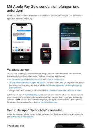 Apple Pay Cash: l'échange d'argent par message apparait (un peu) en France et en Allemagne. Bientôt lancé? 6