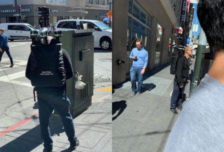 Après les voitures Apple bardées de caméra, voici les piétons avec sac à dos 2