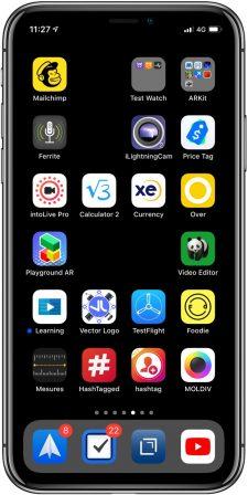 Comment utiliser les Raccourcis iOS pour créer des icônes invisibles sur iPhone, iPad 5