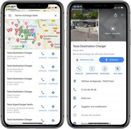 L'app Google Maps affiche désormais les bornes de recharge pour voiture électrique 2