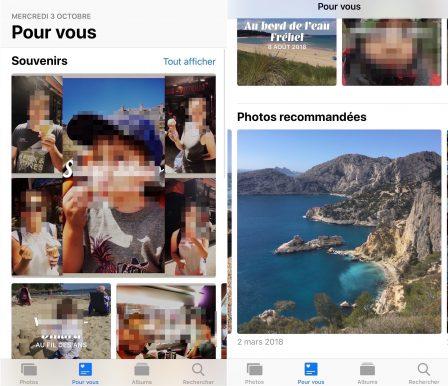 Avec iOS 12: des nouveautés plus ou moins visibles pour retrouver et gérer ses photos (Rechercher, Pour vous, etc.) 2