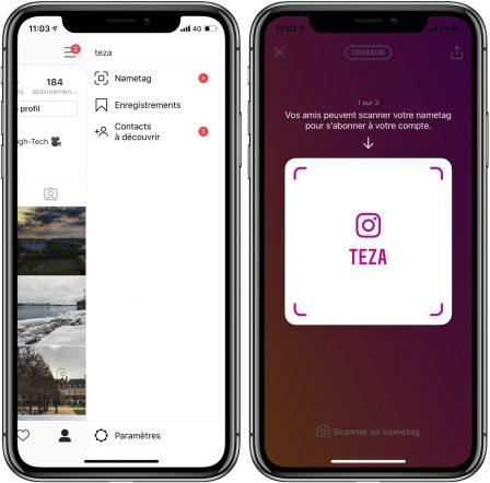 """Instagram lance le """"NameTag"""" et ... teste une fonction de suivi GPS partagé avec Facebook 2"""