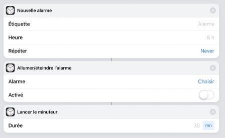 Mise à jour de l'app «Raccourcis» avec de nouvelles fonctions météo, alarme, etc. 4