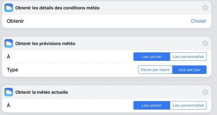 Mise à jour de l'app «Raccourcis» avec de nouvelles fonctions météo, alarme, etc. 2