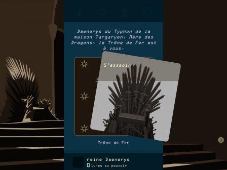 Test: régnez sur Westeros, dans l'excellent Reigns: Game of Thrones sur iPhone, iPad 2