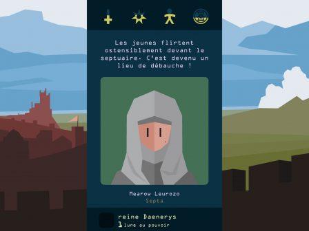 Test: régnez sur Westeros, dans l'excellent Reigns: Game of Thrones sur iPhone, iPad 4