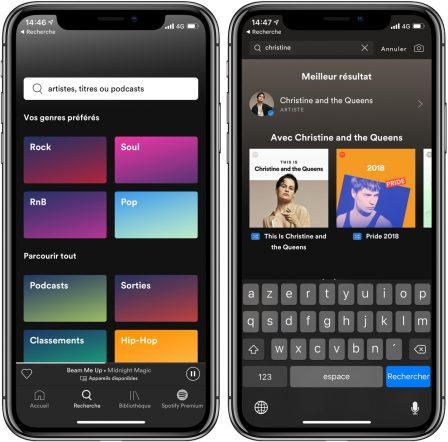Spotify revoit l'interface de son appli mobile: les nouveautés 2