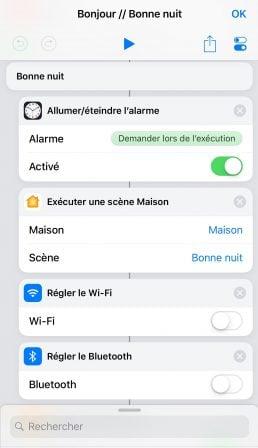 Tuto Raccourcis iOS (3ème partie) : créer un raccourci pour sa routine du matin/soir (condition, réglages, réveil) 6