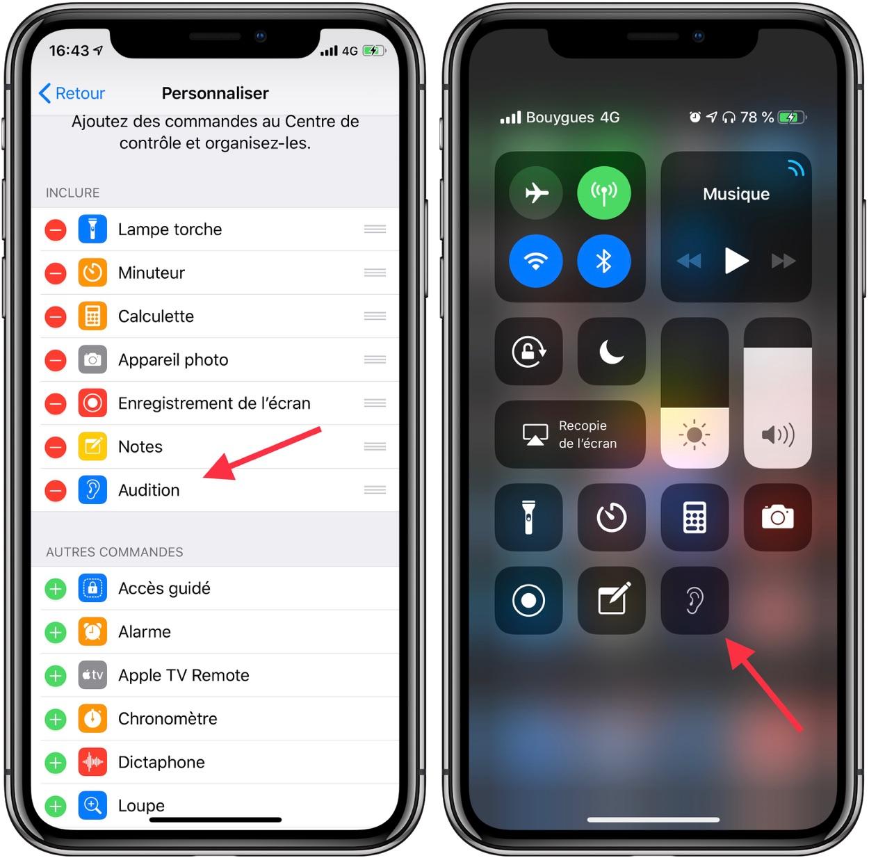 Il suffit de brancher l'application iPhone