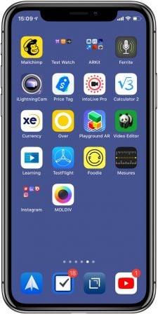 Les fonds d'écran qui font disparaitre le dock iPhone sont de retour! 4