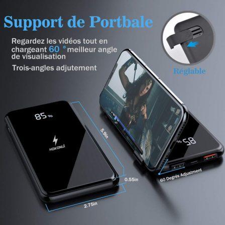 Promo flash sur jolie batterie 10 000 mAh avec recharge sans-fil, afficheur numérique et entrée USB-C 4