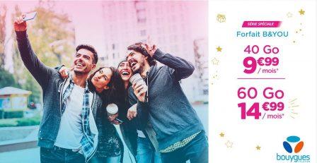Forfaits mobiles: 2 nouvelles offres chez B&You, dont du 40 Go à 9,99€/mois 2
