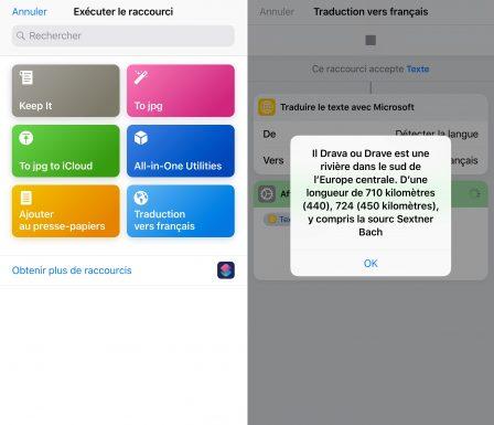 Tuto: un raccourci iOS tout simple pour traduire du texte aisément 9