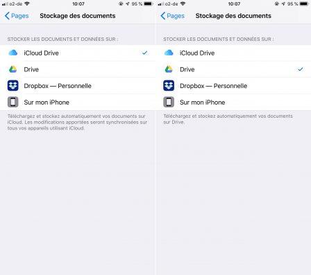 Tuto iOS: comment forcer des applis iPhone, iPad à utiliser le stockage Dropbox (ou Google) plutôt qu'iCloud 5