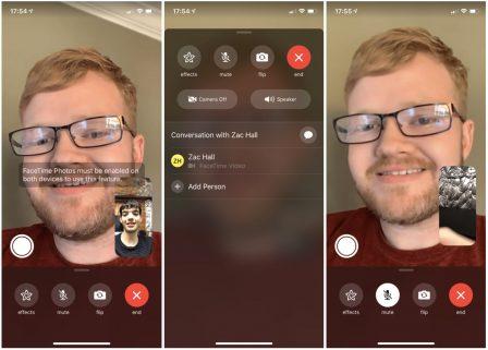 Beta iOS 12.1.1: retour du Live Photo dans FaceTime et meilleure interface 2