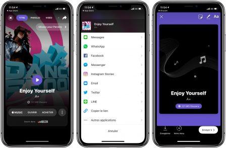 La 1ère version Shazam depuis son rachat par Apple se tourne vers Instagram 2