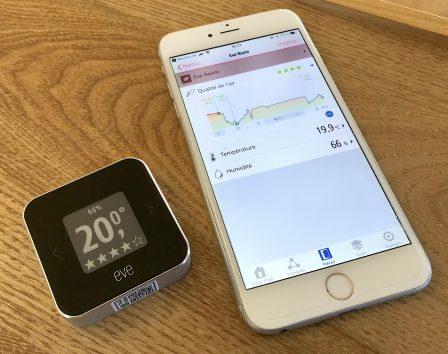 Promo flash courte -25% / Test du Eve Room v2: capteur air et température avec écran, compatible HomeKit/Siri 18