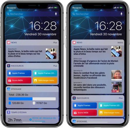 """MàJ - Le widget """"News"""" d'iOS victime d'une panne ... Il tente d'afficher """"Apple News"""" 3"""