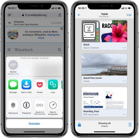Yoink: une étagère virtuelle pour stocker et récupérer aisément ses fichiers sur iPhone et iPad 1