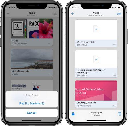 Yoink: une étagère virtuelle pour stocker et récupérer aisément ses fichiers sur iPhone et iPad 3