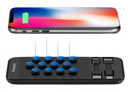 12 batteries avec câble ou prise iPhone intégré, faciles à ranger dans la poche ou le sac (MàJ) 4
