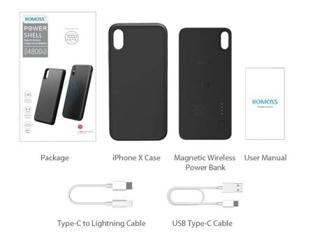 En promo flash: la coque avec batterie Qi magnétique pour iPhone X/XS et 8/Plus chez Romoss 6
