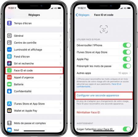 En pratique: comment ajouter un 2nd visage à la reconnaissance FaceID iPhone X, XR et XS 2