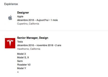 Un designer de chez Tesla rejoint Apple: pour le projet de voiture autonome? 3