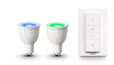Promos kits Hue: des kits d'ampoules couleurs, blanches et spots pour étendre son installation moins cher! 8