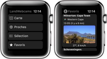 Les webcams du monde entier à portée d'Apple Watch et d'iPhone avec LandWebCams (10 licences à gagner!) 2