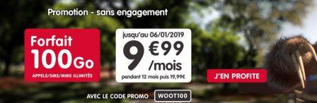 Nouvelle promo: forfait NRJ mobile 100 Go en série limitée à 9,99€ par mois 2