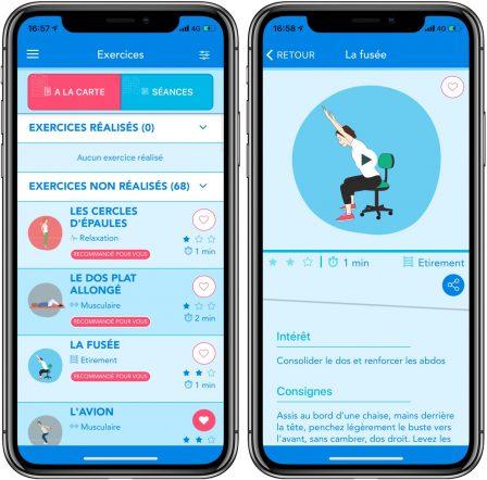 Activ'dos: une app iPhone et iPad très complète pour prendre soin de son dos 3