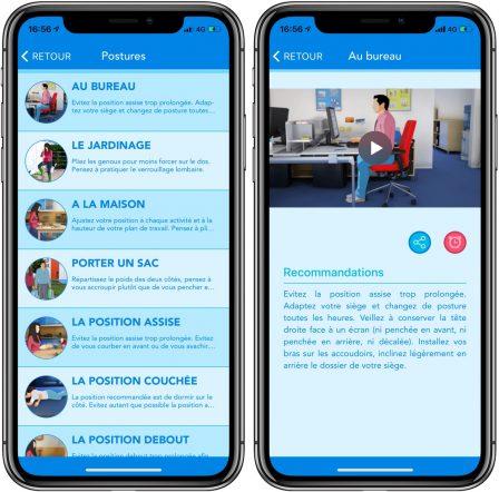 Activ'dos: une app iPhone et iPad très complète pour prendre soin de son dos 2