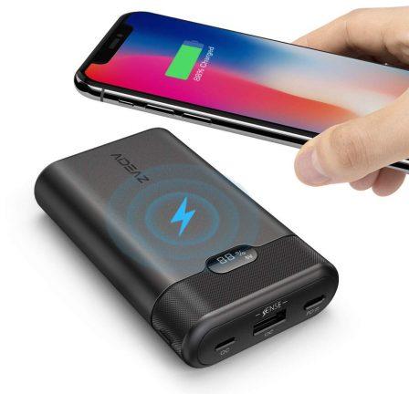 Promo flash: batteries Qi avec afficheur numérique et sortie USB-C PD, en capacités 10 000 et 20 000 mAh 3