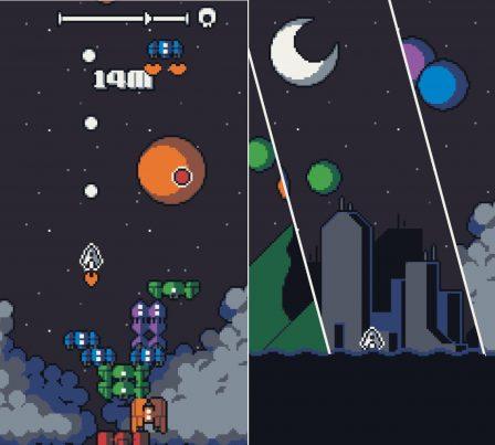 Galaxy Stack: Les aliens débarquent dans un mix de shooter rétro et de Tetris sur iOS (Màj) 3
