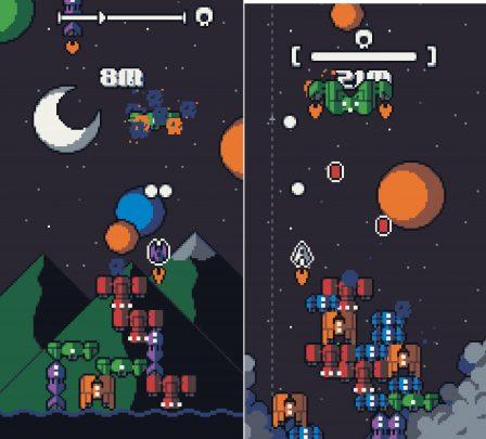 Galaxy Stack: Les aliens débarquent dans un mix de shooter rétro et de Tetris sur iOS (Màj) 4