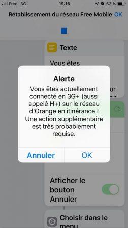 Clients Free Mobile: un raccourci et bientôt une app pour éviter l'itinérance et ses débits ralentis 3