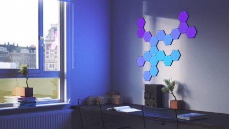 Les tuiles lumineuses Nanoleaf se déclinent en version hexagonale, toujours compatibles HomeKit 2