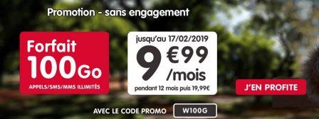 Promo: forfait illimité + 100 Go à 9,99€/mois pendant 12 mois chez NRJ Mobile 2