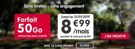 Promo forfait: illimité + 50 Go d'Internet à 8,99€ mensuels chez NRJ Mobile 2