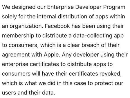 Mise à jour - Facebook contourne les règles de l'App Store et paie des jeunes pour tout savoir de leur activité iPhone (MàJ) 3
