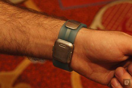 Aura: le capteur de masse graisseuse et autres données corporelles s'intègre dans un bracelet Apple Watch 2