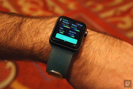 Aura: le capteur de masse graisseuse et autres données corporelles s'intègre dans un bracelet Apple Watch 3