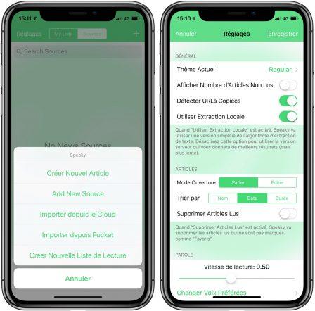 Gratuite actuellement: l'app Speaky lit les pages web et texte à haute-voix sur iPhone et iPad 3