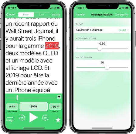 Gratuite actuellement: l'app Speaky lit les pages web et texte à haute-voix sur iPhone et iPad 2