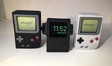 En promo flash - Test : support Elago W5, l'Apple Watch devient Game Boy avec un support de recharge rétro ! 13
