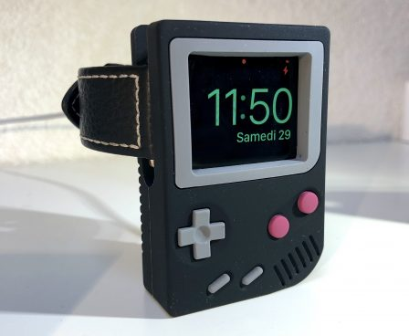En promo flash - Test : support Elago W5, l'Apple Watch devient Game Boy avec un support de recharge rétro ! 12
